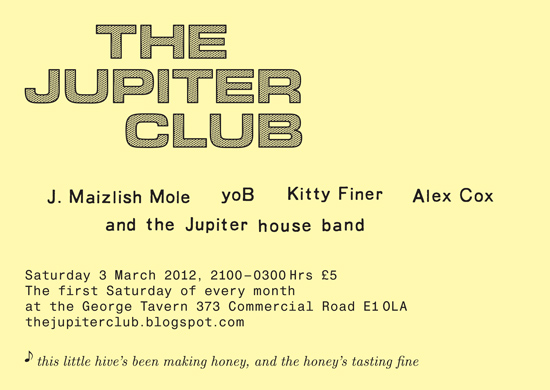 The Jupiter Club - 3 March 2012